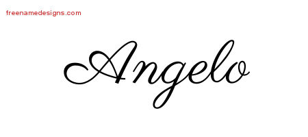 Classic Name Tattoo Designs Angelo Printable