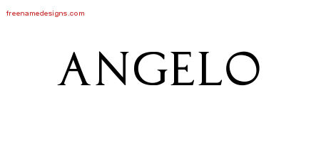 Regal Victorian Name Tattoo Designs Angelo Graphic Download