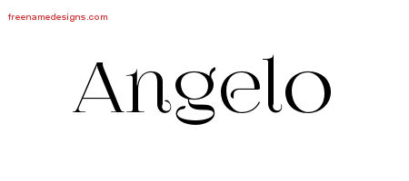 Vintage Name Tattoo Designs Angelo Free Printout