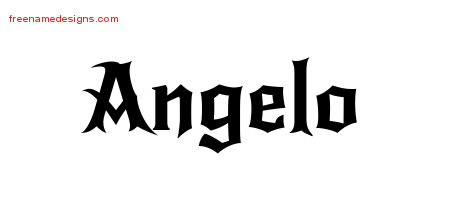 Gothic Name Tattoo Designs Angelo Download Free