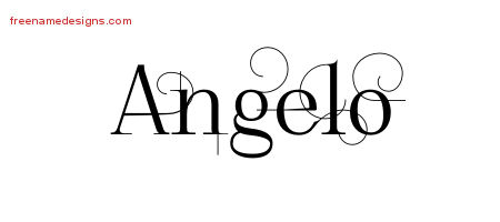 Decorated Name Tattoo Designs Angelo Free Lettering