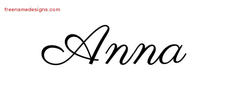 4f2585be8 Classic Name Tattoo Designs Anna Graphic Download - Free Name Designs