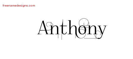 how to write anthony in cursive