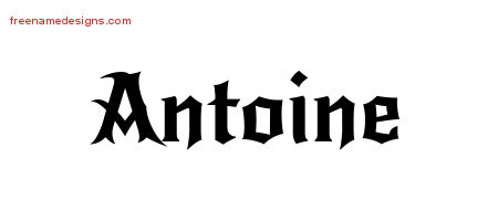 Gothic Name Tattoo Designs Antoine Download Free