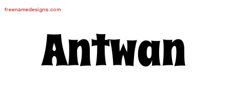 Groovy Name Tattoo Designs Antwan Free