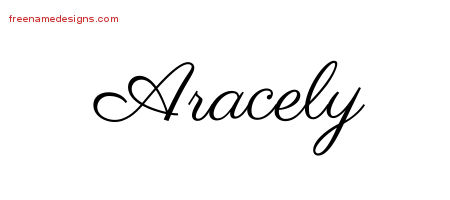 Classic Name Tattoo Designs Aracely Graphic Download