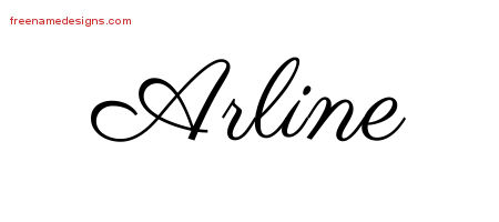 Classic Name Tattoo Designs Arline Graphic Download