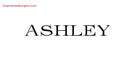 How to write ashley in cursive