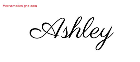 Ashley Name Tattoo