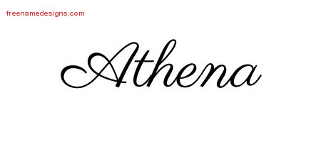 Classic Name Tattoo Designs Athena Graphic Download
