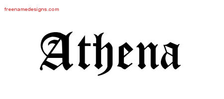 Blackletter Name Tattoo Designs Athena Graphic Download