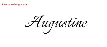 Calligraphic Name Tattoo Designs Augustine Download Free