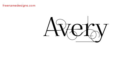 decorated name tattoo designs avery free free name designs