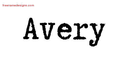Typewriter Name Tattoo Designs Avery Free Printout