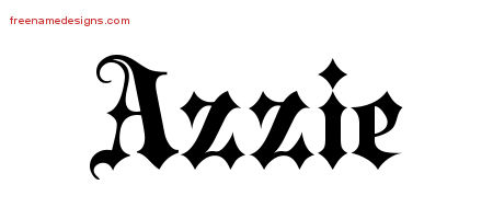 Old English Name Tattoo Designs Azzie Free