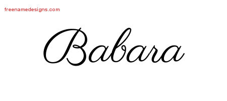 Classic Name Tattoo Designs Babara Graphic Download