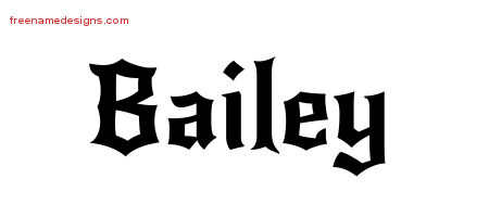 Gothic Name Tattoo Designs Bailey Download Free