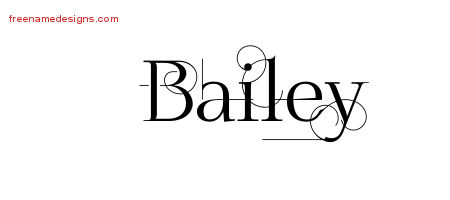 Decorated Name Tattoo Designs Bailey Free Lettering