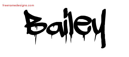 Graffiti Name Tattoo Designs Bailey Free Lettering