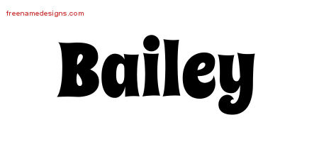 Groovy Name Tattoo Designs Bailey Free Lettering
