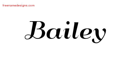 Art Deco Name Tattoo Designs Bailey Graphic Download