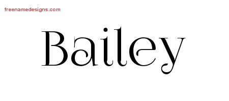 Vintage Name Tattoo Designs Bailey Free Download