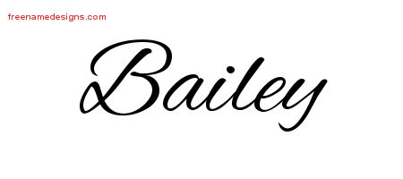 Cursive Name Tattoo Designs Bailey Free Graphic