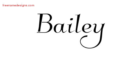 Elegant Name Tattoo Designs Bailey Download Free