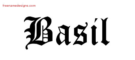 Blackletter Name Tattoo Designs Basil Printable Free Name Designs