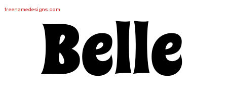 Groovy Name Tattoo Designs Belle Free Lettering