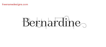 Decorated Name Tattoo Designs Bernardine Free