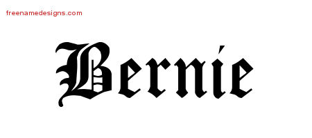 Blackletter Name Tattoo Designs Bernie Printable