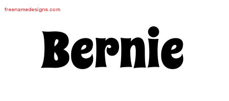 Groovy Name Tattoo Designs Bernie Free