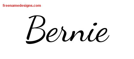 Lively Script Name Tattoo Designs Bernie Free Download