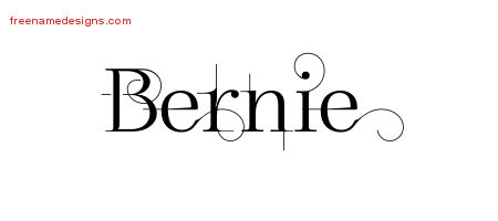 Decorated Name Tattoo Designs Bernie Free Lettering