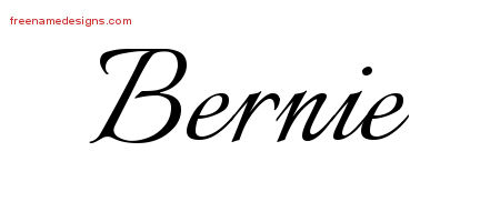 Calligraphic Name Tattoo Designs Bernie Download Free