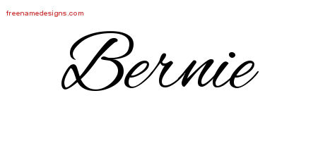 Cursive Name Tattoo Designs Bernie Free Graphic