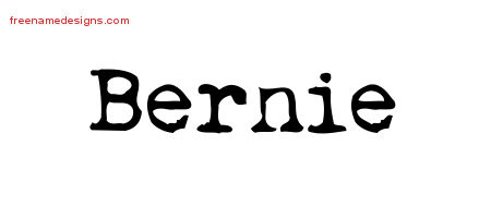 Vintage Writer Name Tattoo Designs Bernie Free