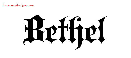 Old English Name Tattoo Designs Bethel Free
