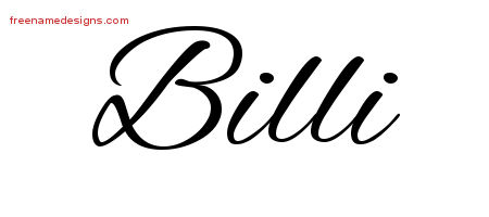 Cursive Name Tattoo Designs Billi Download Free