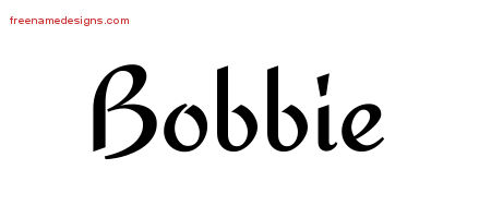Calligraphic Stylish Name Tattoo Designs Bobbie Download Free
