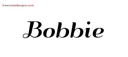 Art Deco Name Tattoo Designs Bobbie Printable