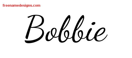 Lively Script Name Tattoo Designs Bobbie Free Printout
