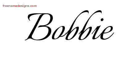 Calligraphic Name Tattoo Designs Bobbie Download Free
