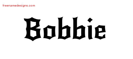 Gothic Name Tattoo Designs Bobbie Free Graphic