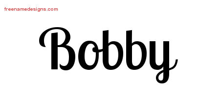 Handwritten Name Tattoo Designs Bobby Free Printout