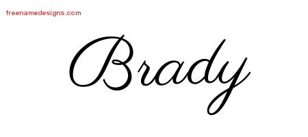 Classic Name Tattoo Designs Brady Printable