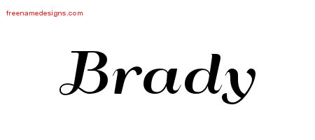 Art Deco Name Tattoo Designs Brady Graphic Download