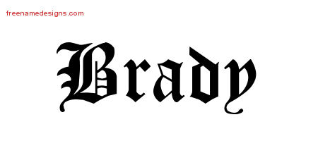 Blackletter Name Tattoo Designs Brady Printable