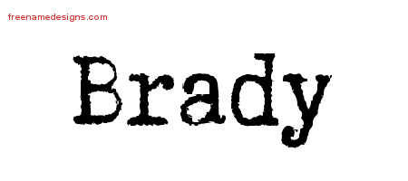 Typewriter Name Tattoo Designs Brady Free Printout